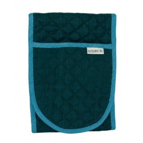 Sterck Carom Double Oven Glove Two Tone Green and Blue