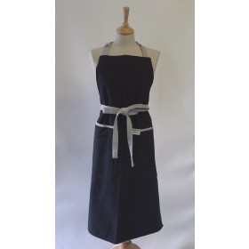Sterck Carom Two Tone Denim Apron Black and Grey
