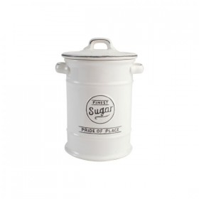 Pride Of Place Sugar Canister Old White