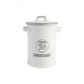 Pride Of Place Tea Canister Old White