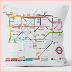 Tube Map Cushions 40cm