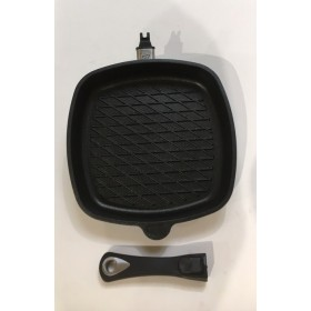 Amt Gastroguss Non-Stick Induction Grill Pan Removable Handle 28cm