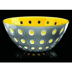 Guzzini Le Murrine Bowl 25cm Yellow Grey