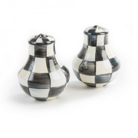 MacKenzie Childs Courtly Check Salt and Pepper Shakers