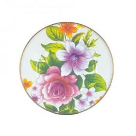 MacKenzie Childs White Flower Market Dessert Plate 20cm