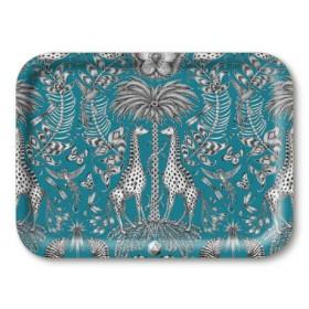 Jamida Emma J Shipley Kruger Turquoise Lap Tray 27cm