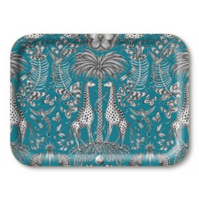 Jamida Emma J Shipley Kruger Turquoise Food and Drinks Lap Tray 43cm