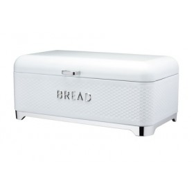 Lovello Bread Bin Textured Finish Ice White