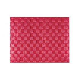 Saleen Ruby Red Placemat Woven