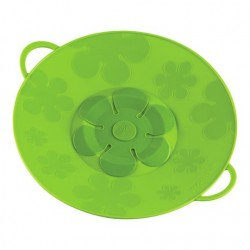 Kuhn Rikon Green 29.5cm Silicone Spill Stopper Multi-Function Pot Lid