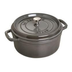 Staub Graphite Gray Round Cast Iron Cocotte 20cm