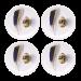 Jamida Michael Angove Feathered White 4pc Coaster Set